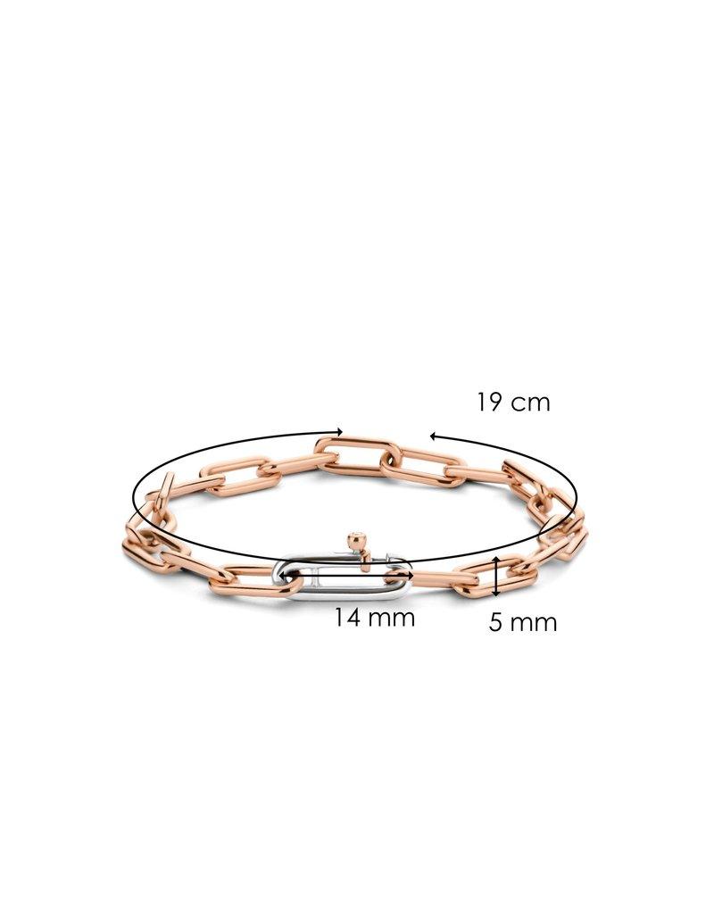 Ti Sento Milano 2936SR Armband closed forever zilver met rose gouden plating