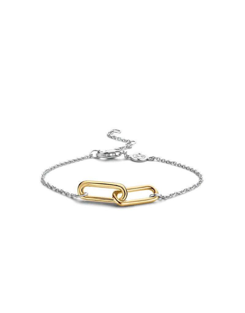 Ti Sento Milano 2960SY Armband zilver met geelgoud plated closed forever element