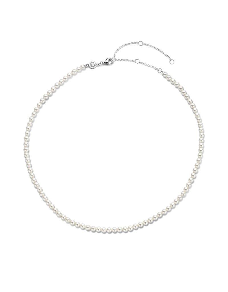 Ti Sento Milano 3916PW/42 Parel collier in 42 cm met zilveren sluiting