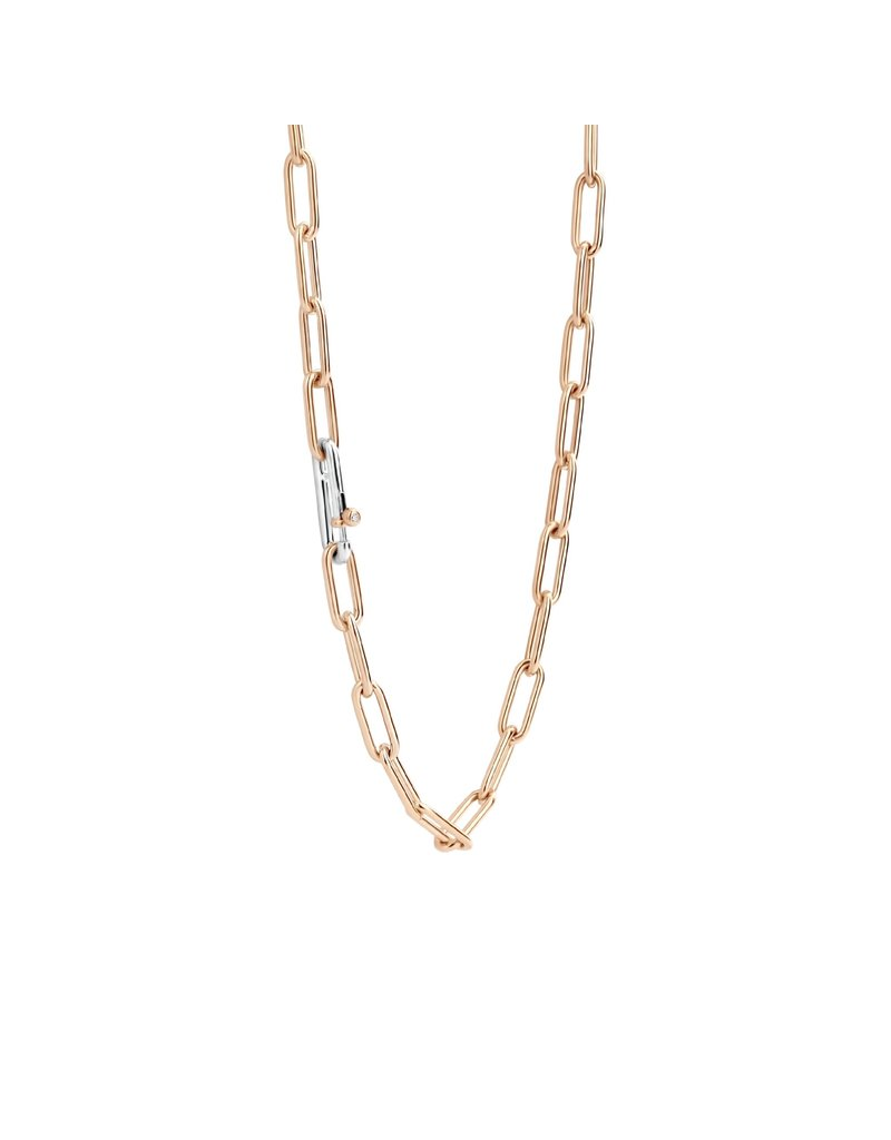 Ti Sento Milano 3947SR/48 Collier zilver rose plated closed forever 48 cm