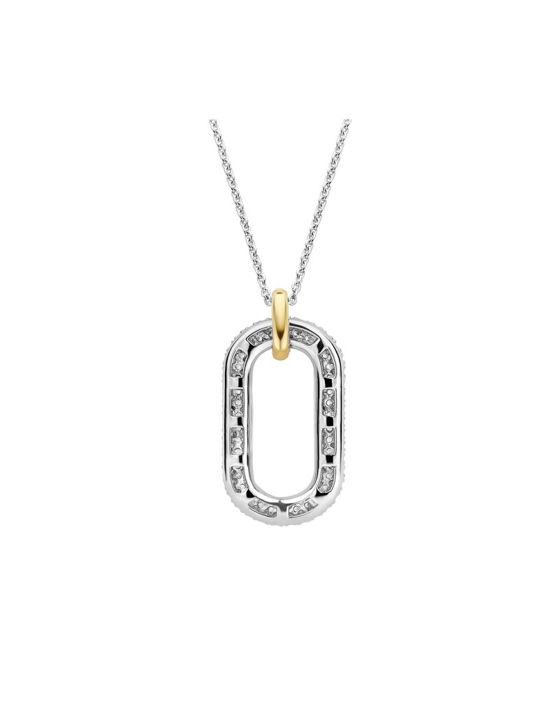 Ti Sento Milano 3964ZY/42 Collier zilver met closed forever element en gouden oog