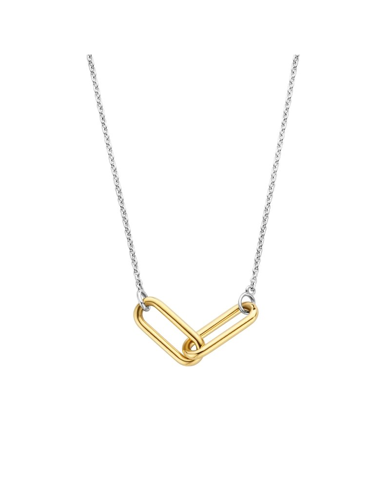 Ti Sento Milano 3966SY/42 Collier zilver met closed forever element in goldplated