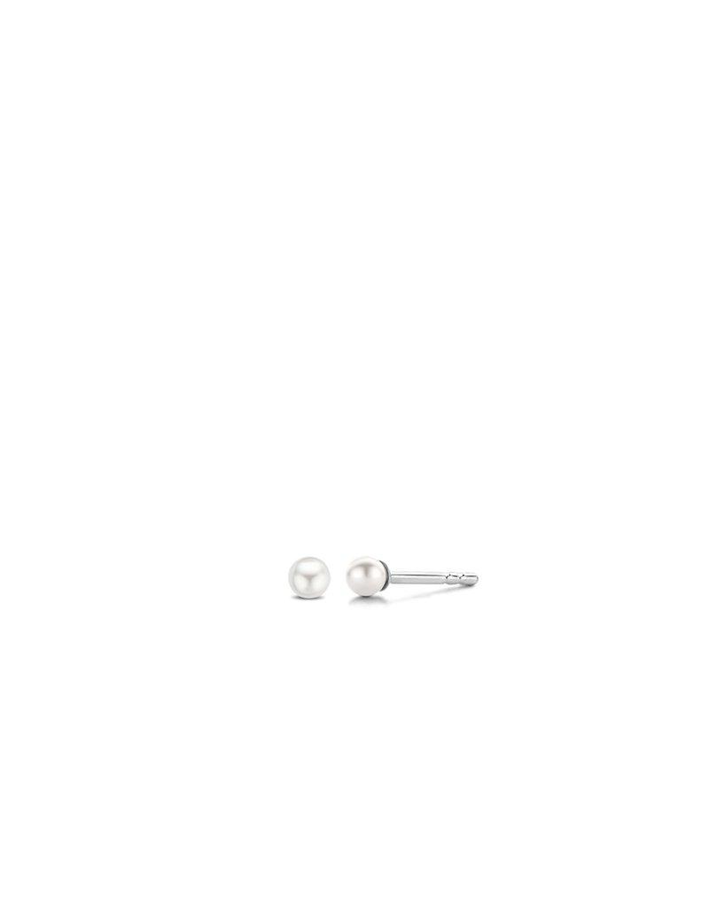 Ti Sento Milano 7841PW Oorbellen zilver steker met pareltje