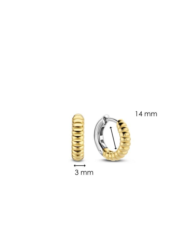 Ti Sento Milano 7839SY Creolen zilver verguld met ribbel