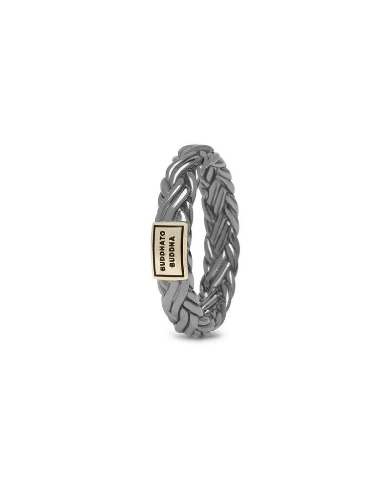 Buddha to Buddha BtoB 605BR SG 17.5  Katja XS Ring Black Rhodium Shine Gold 14kt