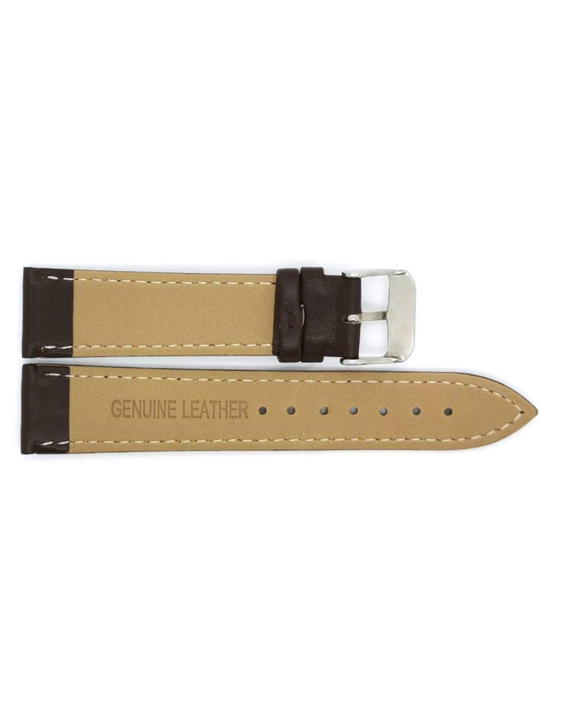 BBS Horlogebanden 00073111_01_18_mm 18 mm horlogeband leer zwart  zwarte stiksels stalen gesp