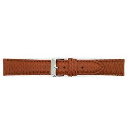 BBS Horlogebanden 00095099_07_18_mm 18 mm horlogeband leer bruin slang bruine stiksels stalen gesp