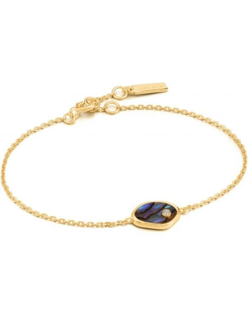 ANIA HAIE JEWELRY AH B027-01G Armband verguld Tida Abalone M