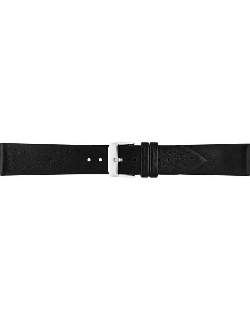 BBS Horlogebanden 00049000_01_18_mm 18 mm horlogeband leer zwart stalen gesp