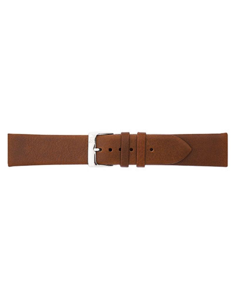 BBS Horlogebanden 00049000_07_18_mm 18 mm Horlogeband leer bruin met stalen gesp