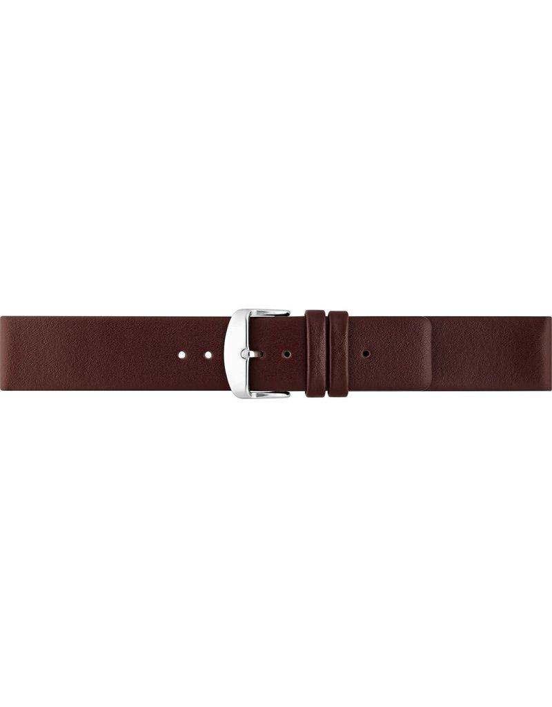 BBS Horlogebanden 00067111_07_22_mm 22 mm horlogeband  leer bruin stalen gesp