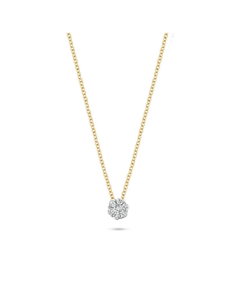 Blush Blush 3602BDI Collier 14k geelgoud met witgouden diamant hanger