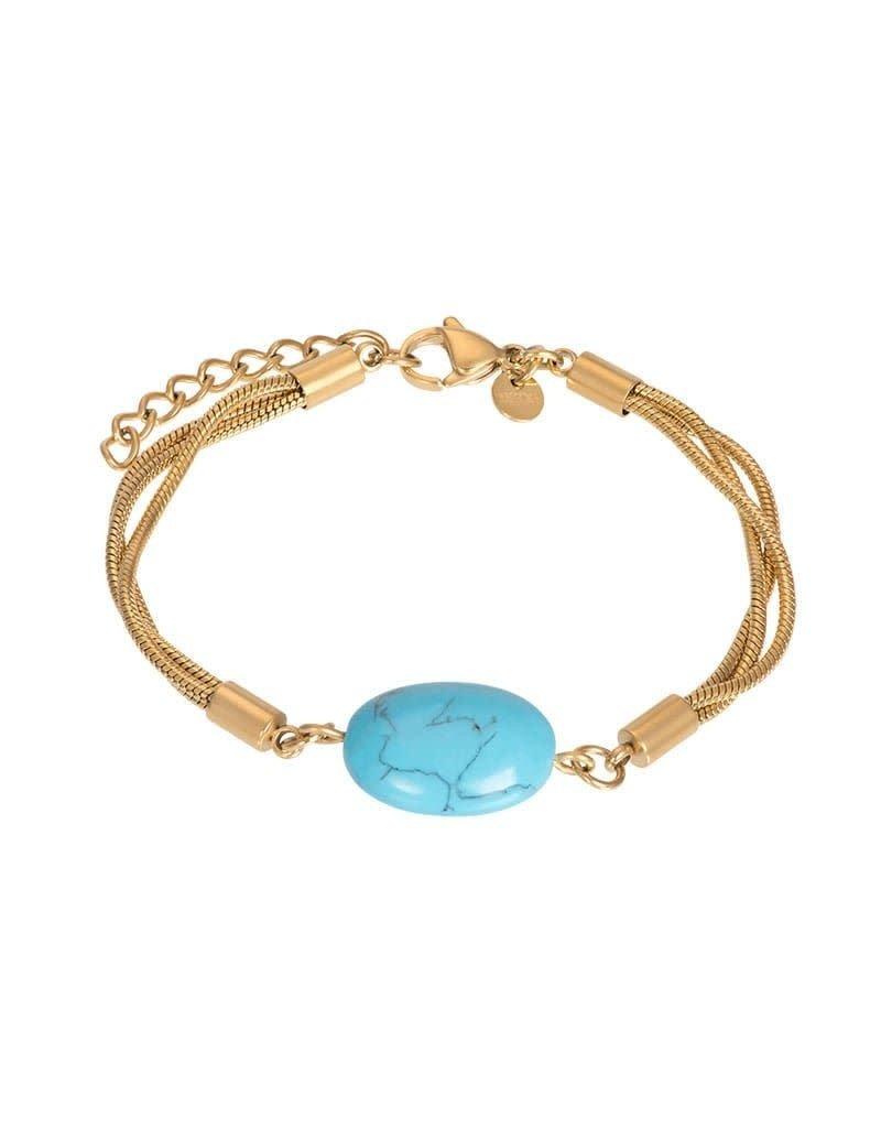 iXXXi B00389-01 Armband verguld met turquoise steen