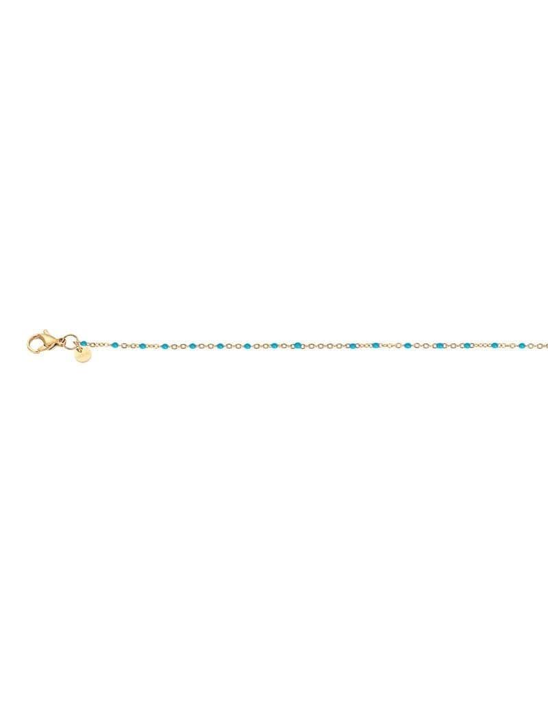 iXXXi C00704-01 Collier verguld slimball turquoise