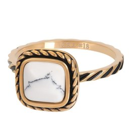 iXXXi R05919-01 ring staal mt 17 goud verguld Summer white