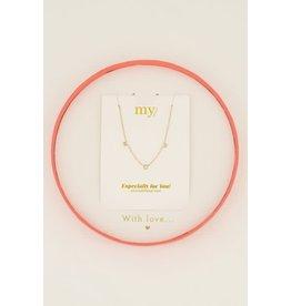 My Jewellery MJ045351200 Giftbox MOM collier staal geelgoud verguld 38cm + 8cm