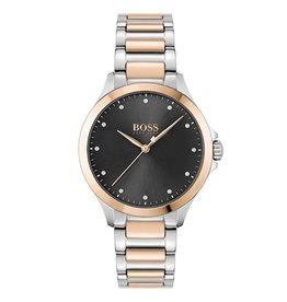 Hugo Boss Hugo Boss HB1502598 horloge dames staal bi coulour rosé