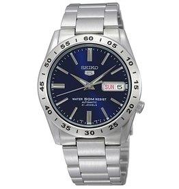 Seiko Seiko SNDK99K1 horloge heren autmaat staal met blauwe wijzerplaat