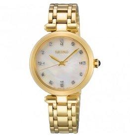 Seiko Seiko SRZ536P1 dames horloge double met MOP wijzerplaat  met diamanten