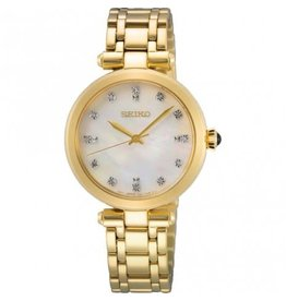 Seiko Seiko SKY064P1 horloge dames double chrono MOP wijzerplaat met diamant