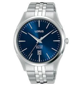 Seiko Lorus RH947NX-9 horloge heren staal  blauwe wijzerplaat en saffier glas