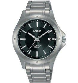 Lorus Lorus RG869CX-9 horloge heren titanium zwarte wijzerplaat