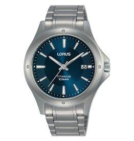 Lorus Lorus RG871CX9 horloge heren titanium blauwe wijzerplaat