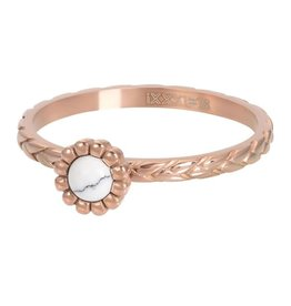 iXXXi R05902-02 ring staal mt 20 rose verguld Inspired White