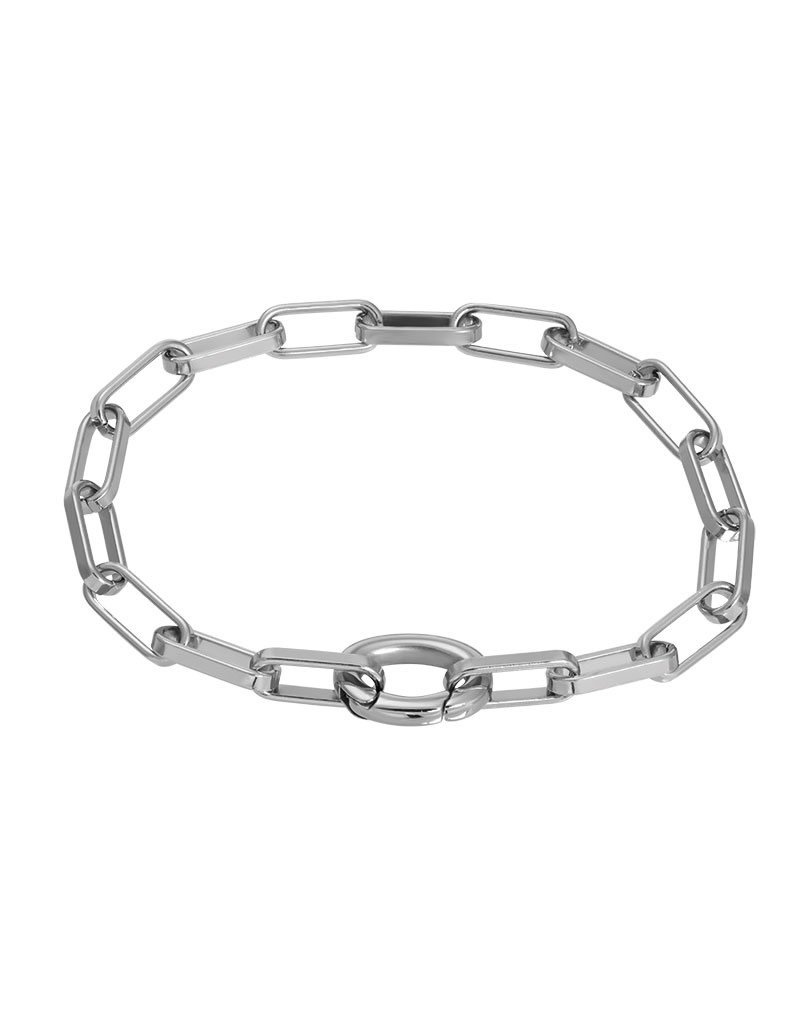 iXXXi B0392-03 Armband staal square chain