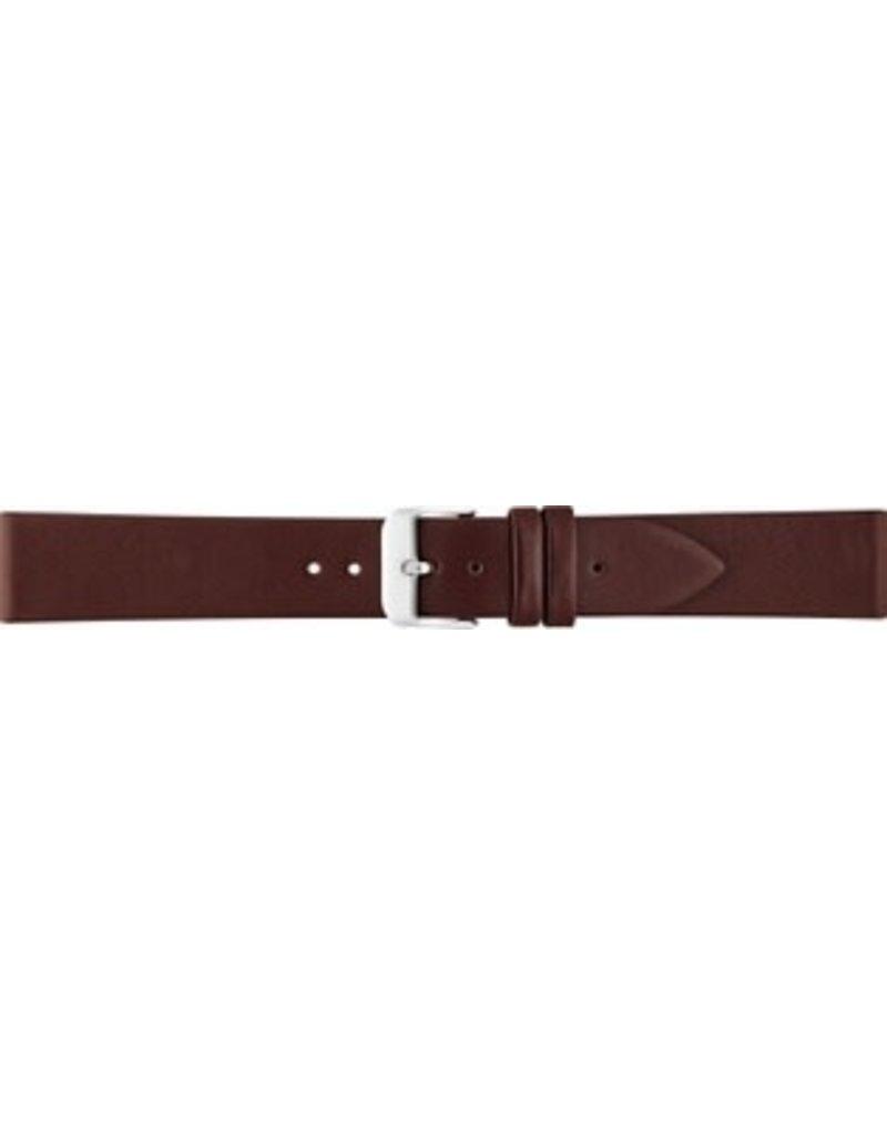 BBS Horlogebanden BBS 00049000_10_20_mm horlogeband leer bruin stalen gesp