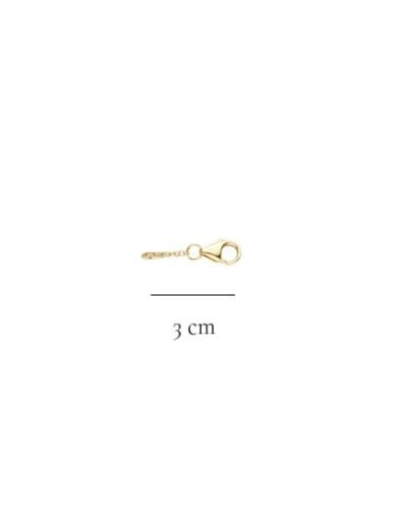 Blush Blush 3058YGO/3 verlengstuk 3cm  voor 14k  geel goud collier