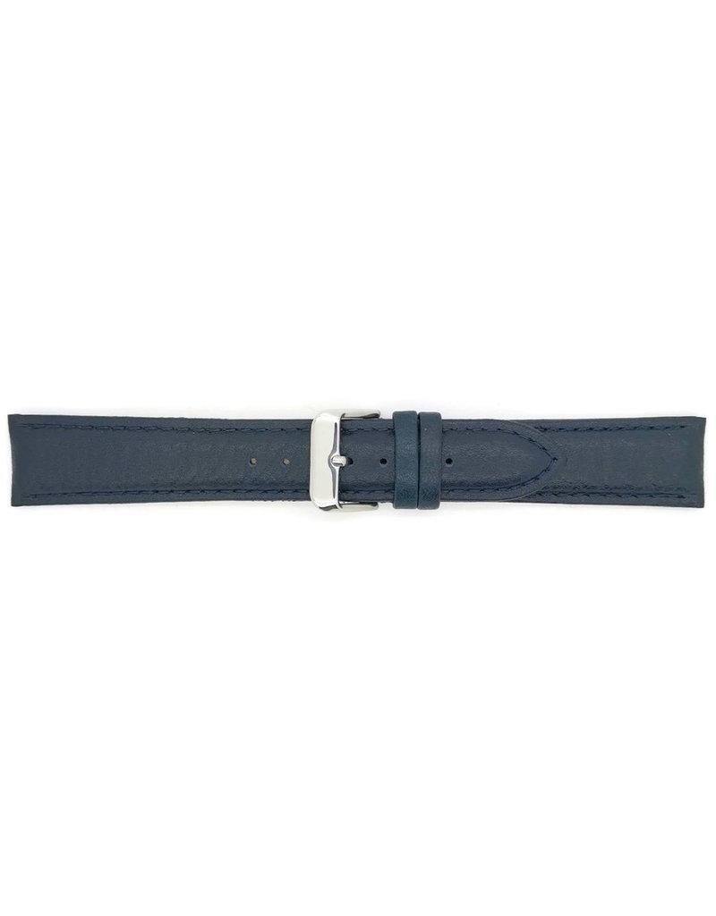 BBS Horlogebanden BBS 00000109_02_20 horlogeband Calf Dark Blue 20MM