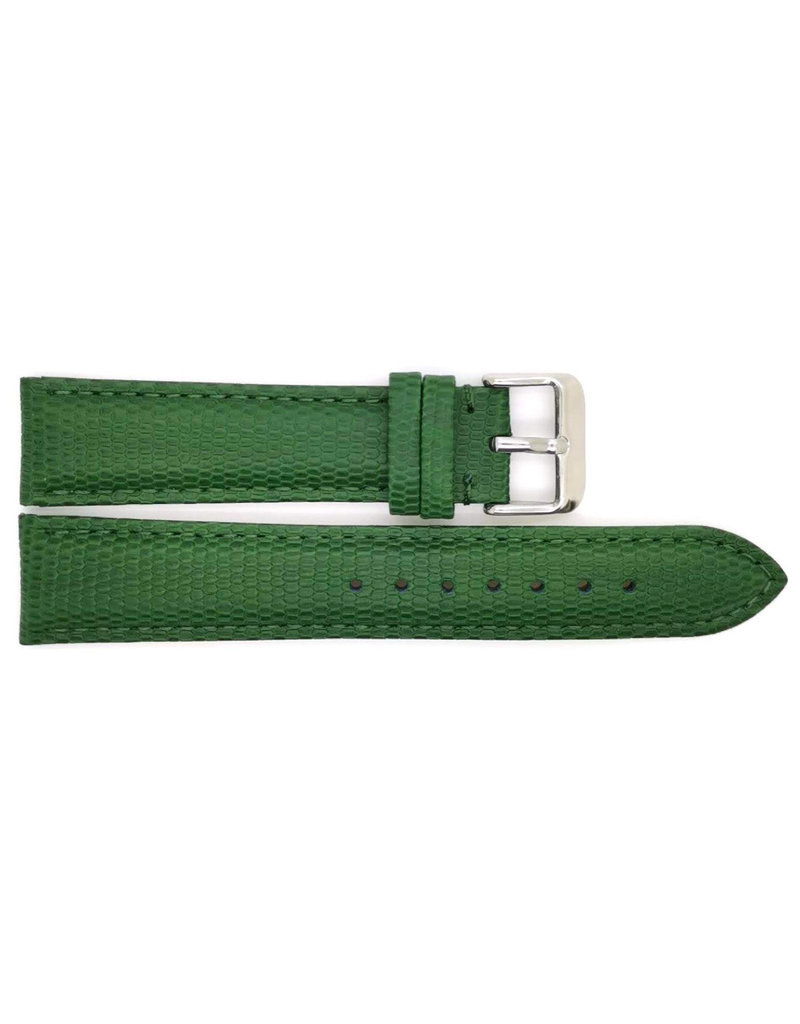 BBS Horlogebanden BBS 00095099_06_22 mm Horlogeband Dark green Lizard