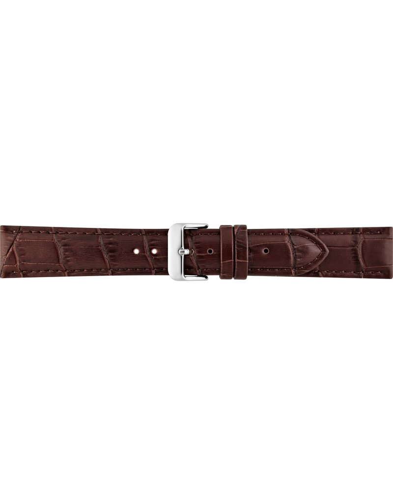 BBS Horlogebanden BBS 00085930_03_18_mm Horlogeband Alligator print 18 MM