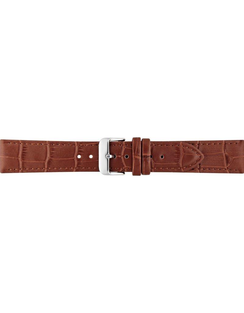 BBS Horlogebanden BBS 00046460_07_14_mm Horlogeband Alligator print 14 MM