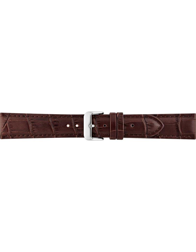 BBS Horlogebanden BBS 00085930_03_14_mm Horlogeband Alligator print 14 MM