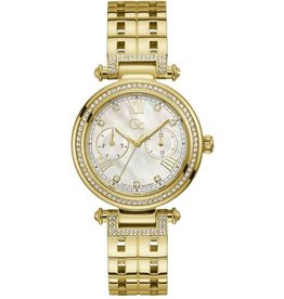 GC GC Y78002L1MF horloge dames staal Sport Chic goldplated met idem band en swarovski steentjes