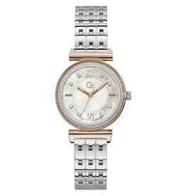 GC GC Y88001L1MF Horloge dames  Sport Chic staal rosé plated met stalen band  en mother of pearl wijzerplaat