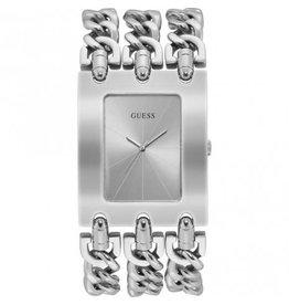 Guess Guess W1274L1 horloge dames staal  Ladies Trend met drie stalen banden zilveren wijzerplaat