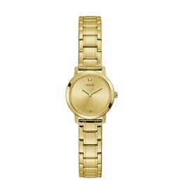 Guess Guess GW0244L2 horloge dames staal goldplated met idem band en gouden wijzerplaat m