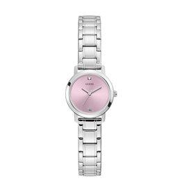 Guess Guess GW0244L1 horloge dames staal met stalen band en roze sunray wijzerplaat