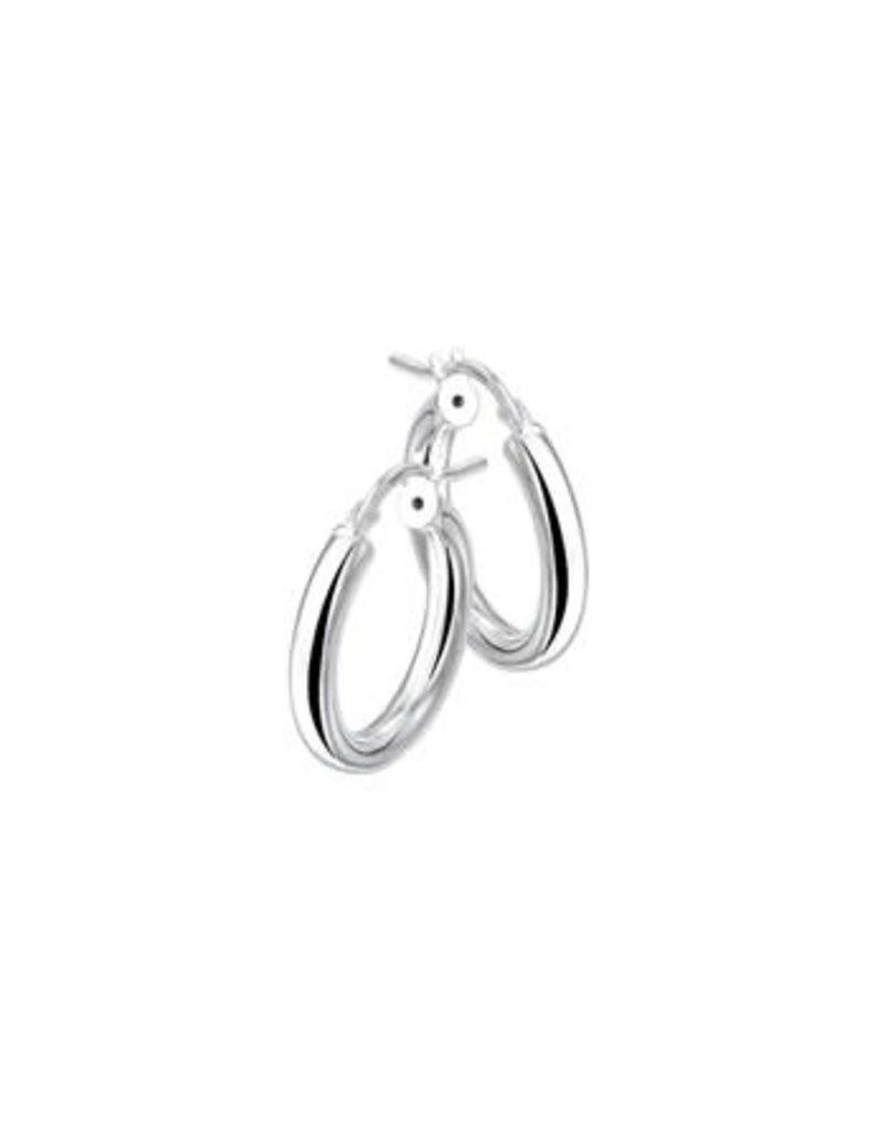 Blinckers Jewelry Huiscollectie 1322246 oorbellen creool zilver 3.8 cm doorsnede en 3 mm dikte