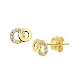 Blinckers Jewelry Huiscollectie Kasius 40.19080 Oorbellen 14 Krt Goud met zirkonia