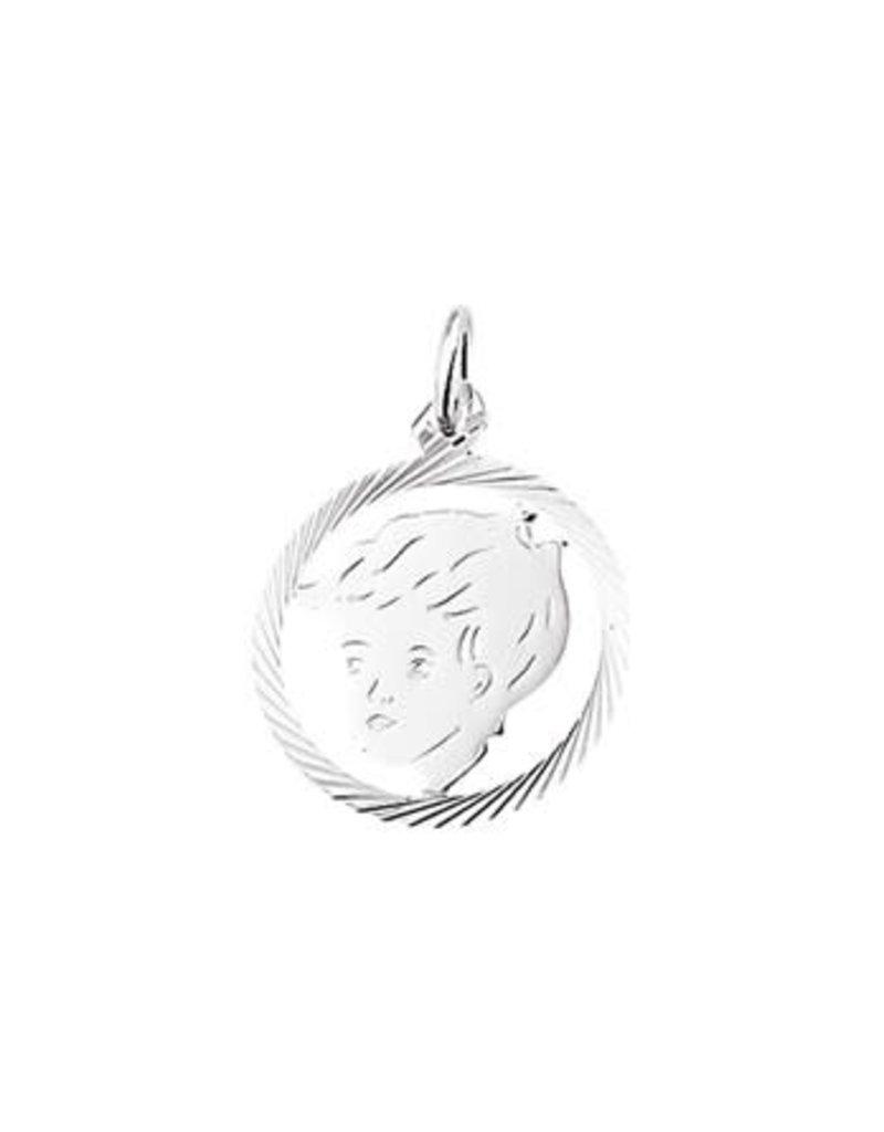 Blinckers Jewelry Huiscollectie BJ 1005222 kinderhoofd bedel zilver 19 mm doorsnede