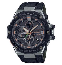 Casio CASIO GST-B100GA-1AER  G-Shock horloge heren stalen kast zwarte bezel