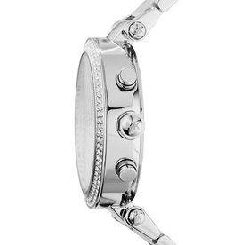 Michael Kors Michael Korse MK5353 horloge dames staal met zirkonia, stalen band en witte wijzerplaat