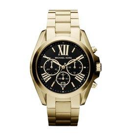 Michael Kors Michael Korse MK 5739 horloge dames staal goldplated chrono met zwarte wijzerplaat