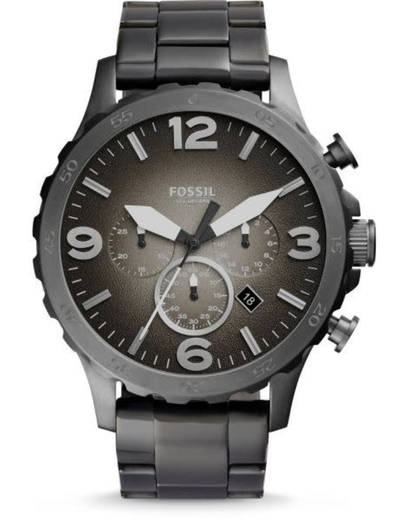 Fossil Fossil JR1437 horloge heren taal dark grey pvd plated 3 hands