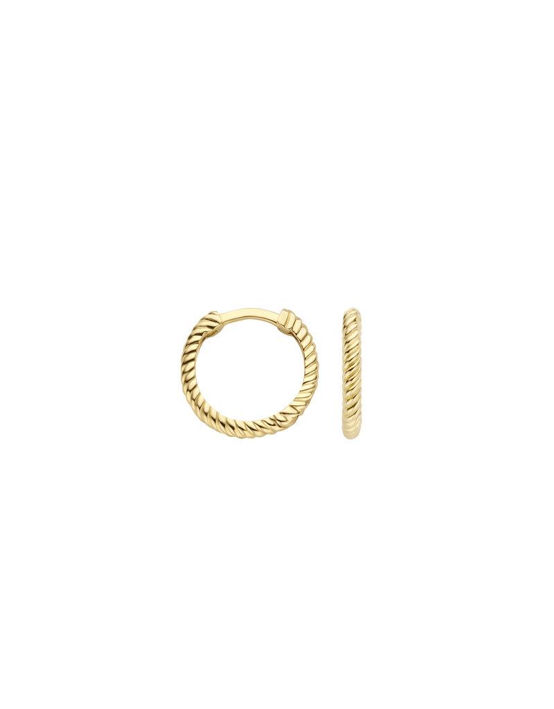 Blush Blush 7266YGO creolen dames goud 14 k geel met ribbel motief