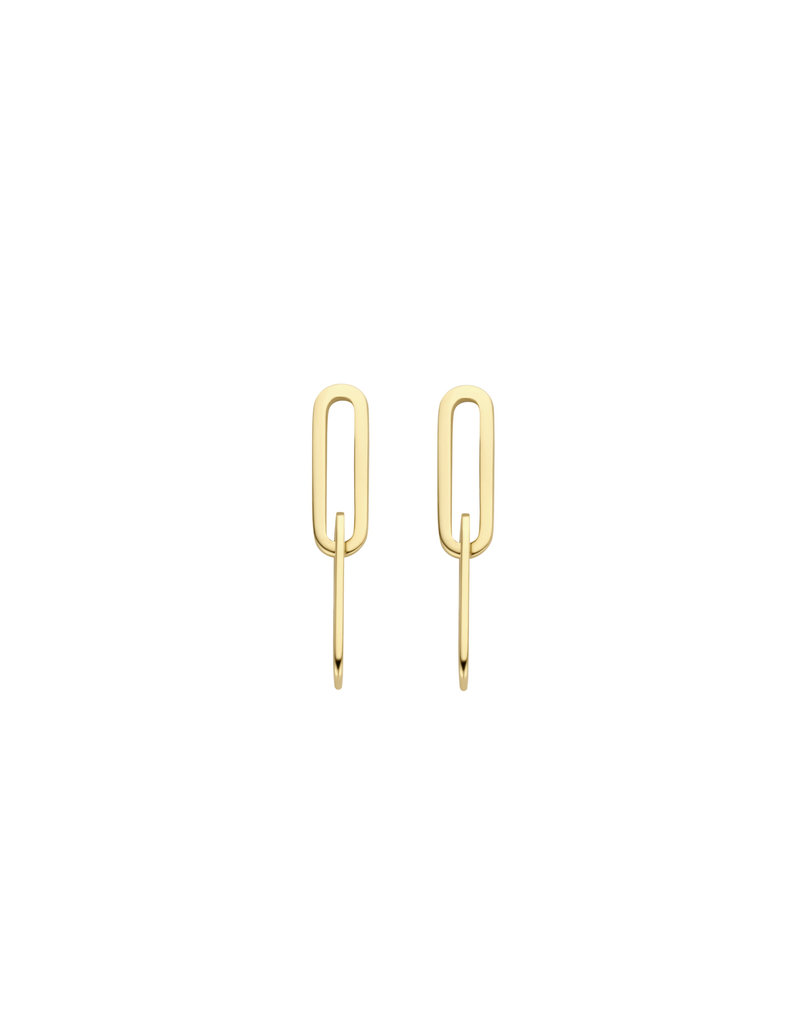 Blush Blush 7262YGO oorstekers dames 14 k goud geel  met closed forever links